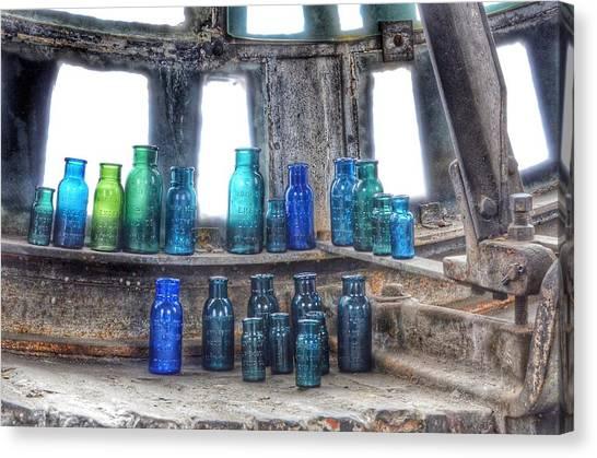 Bromo Seltzer Vintage Glass Bottles  Canvas Print