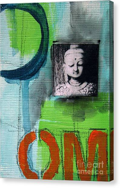 Om Canvas Print - Buddha by Linda Woods