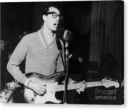 Crickets Canvas Print - Buddy Holly Promotional Photo by The Titanic Project