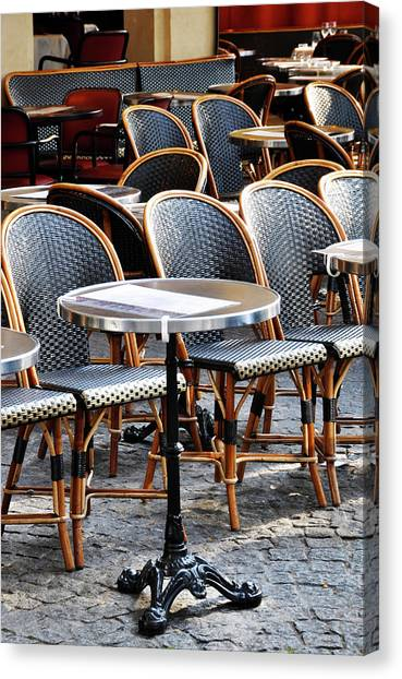 Cafe Terrace In Paris Canvas Print