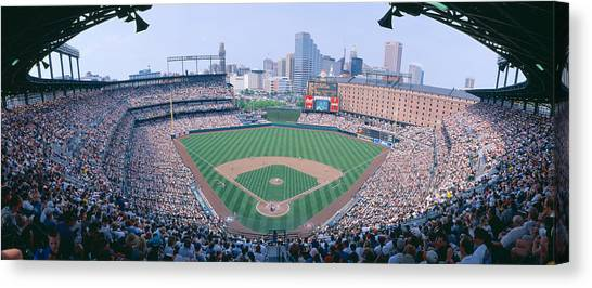 Pitching Canvas Print - Camden Yard Stadium, Baltimore, Orioles by Panoramic Images