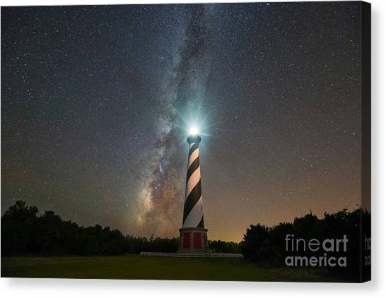 Cape Hatteras Lighthouse Milky Way Canvas Print