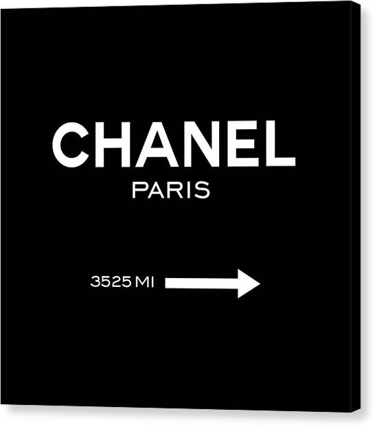 Black And White Canvas Print - Chanel Paris by Tres Chic