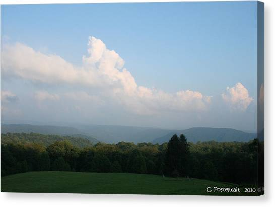 Chapman Family Cemetary Canvas Print by Carolyn Postelwait