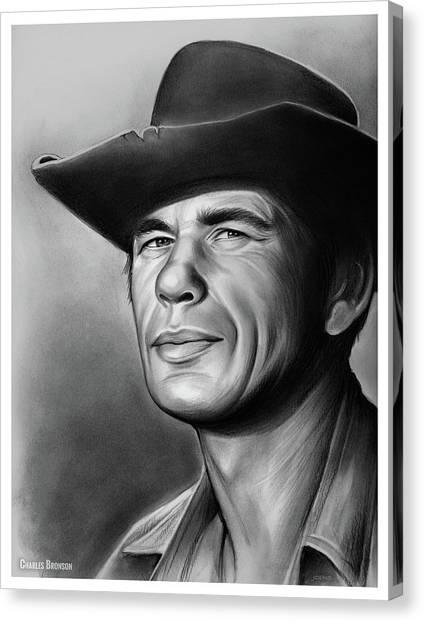 Cowboy Canvas Print - Charles Bronson by Greg Joens