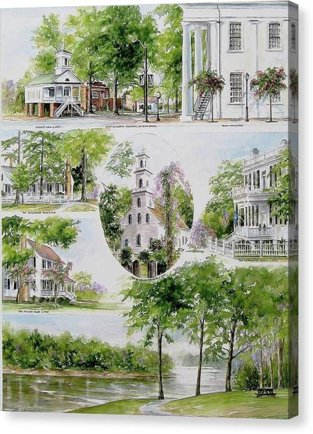Cheraw Collage Canvas Print
