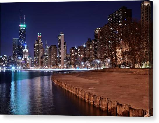 Soldier Field Canvas Print - Chicago From The North by Frozen in Time Fine Art Photography