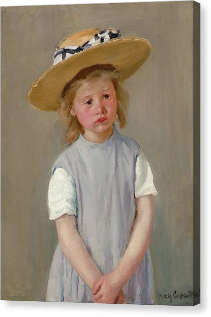 Canvas Print - Child In A Straw Hat by Mary Cassatt