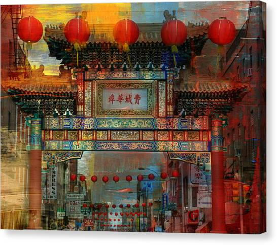 Philly Canvas Print - China Town by Trish Tritz
