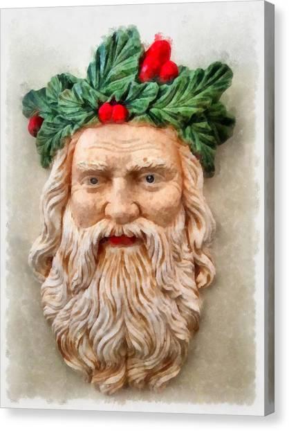 Angel Falls Canvas Print - Christmas Santa Claus by Esoterica Art Agency