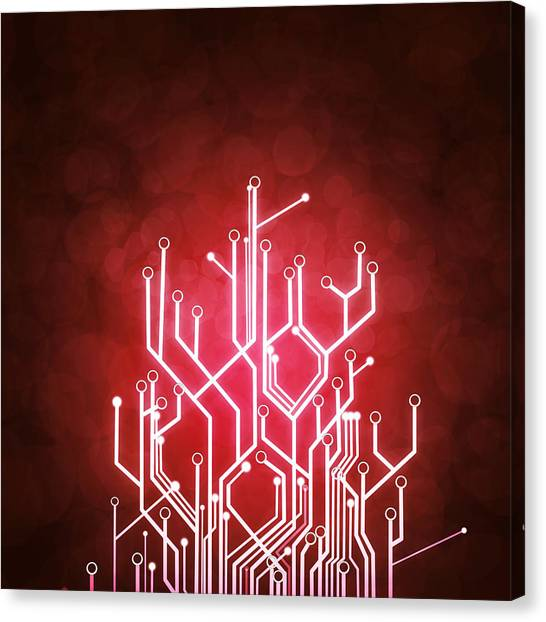 Computer Science Canvas Print - Circuit Board by Setsiri Silapasuwanchai