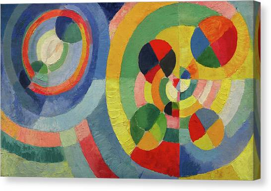 Lyrical Abstraction Canvas Print - Circular Forms by Robert Delaunay