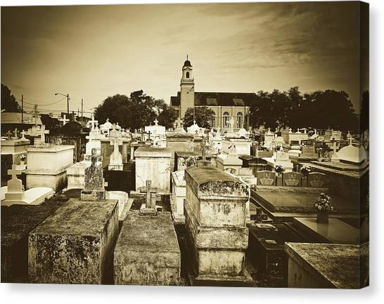 City Of The Dead Canvas Print - City Of The Dead - New Orleans by Library Of Congress