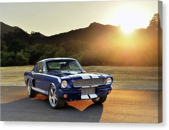 Classic Recreations Shelby Gt350cr Canvas Print by Drew Phillips
