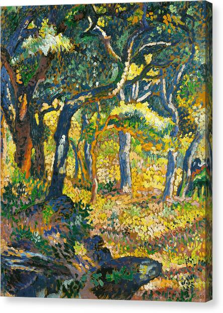 Divisionism Canvas Print - Clearing In Provence  by Henri-Edmond Cross
