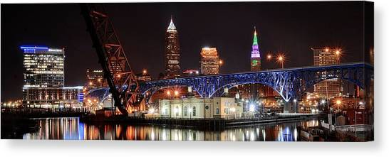 Cleveland State University Canvas Print - Cleveland Panorama by Frozen in Time Fine Art Photography