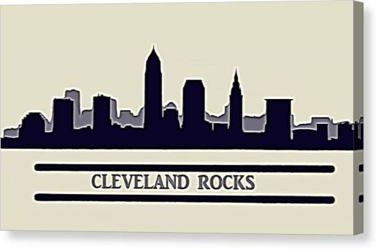 Cleveland Indians Canvas Print - Cleveland Rocks by Dan Sproul