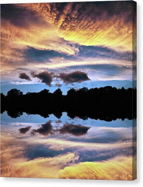 Sunset Horizon Canvas Print - Clouds Illusions by Jessica Jenney