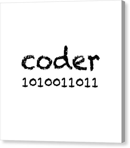 Science Canvas Print - Coder by Bill Owen