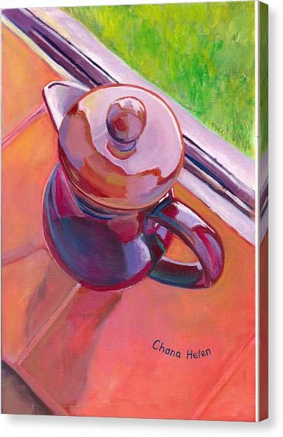 #2 Coffee Pot Canvas Print by Chana Helen Rosenberg