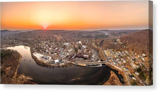 Colinsville, Connecticut Sunrise Panorama Canvas Print