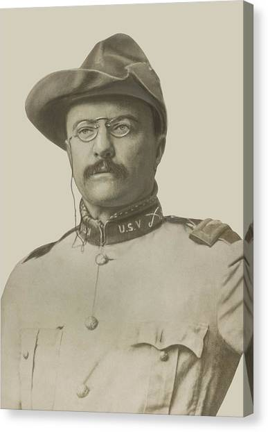 Theodore Roosevelt Canvas Print - Colonel Theodore Roosevelt by War Is Hell Store