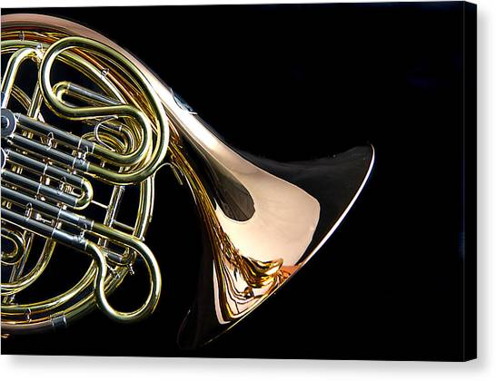 Color French Horn Canvas Print