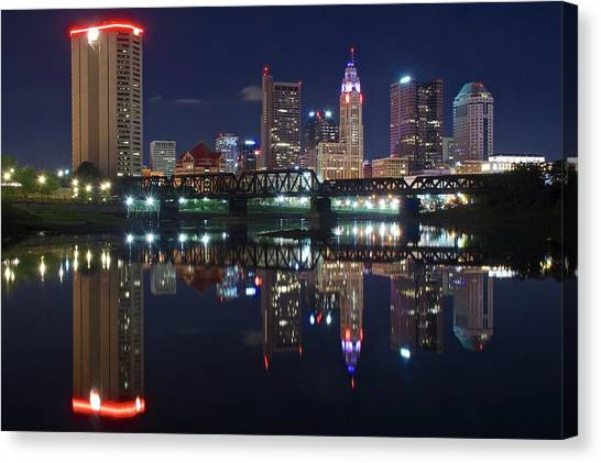 Ohio State University Canvas Print - Columbus Ohio by Frozen in Time Fine Art Photography