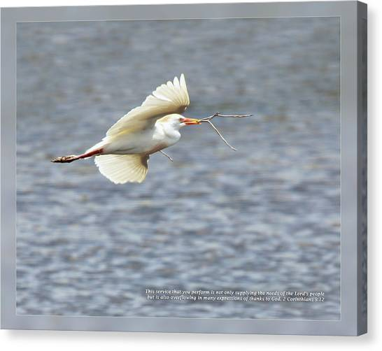 Canvas Print featuring the photograph 2 Corinthians 9 12 by Dawn Currie