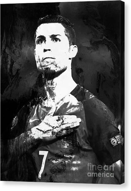 Cristiano Ronaldo Canvas Print - Cristiano Ronaldo Oki by Gull G