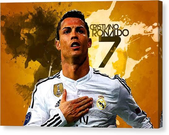Manchester United Canvas Print - Cristiano Ronaldo by Semih Yurdabak