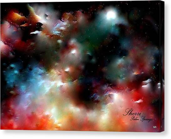 Crystal Universe Canvas Print by Sherri's Of Palm Springs
