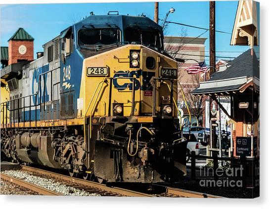 Csx Engine Gaithersburg Maryland Canvas Print