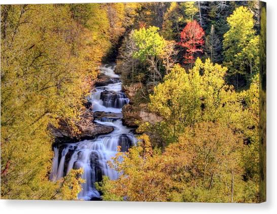Cullasaja Falls Canvas Print