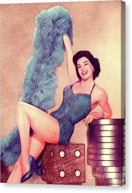 Charisse Canvas Print - Cyd Charisse, Actress And Dancer by John Springfield
