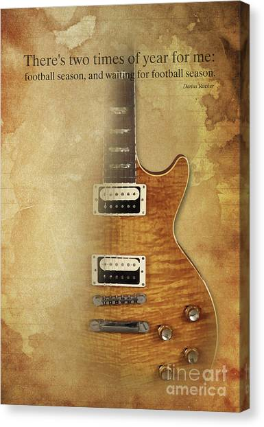 Taylor Swift Canvas Print - Darius Rucker Inspirational Quote, Electric Guitar Poster For Music Lovers And Musicians by Pablo Franchi