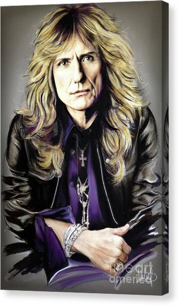 Led Zepplin Canvas Print - David Coverdale 1 by Melanie D
