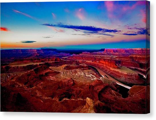 Canvas Print featuring the photograph Dead Horse Point by Norman Hall