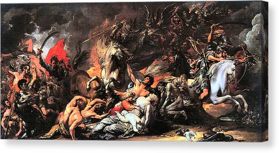 Death On A Pale Horse Canvas Print