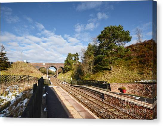 Railway Station Canvas Print - Dent Railway Station by Smart Aviation