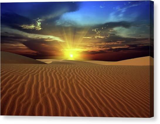 Desert Sunrises Canvas Print - Desert by MotHaiBaPhoto Prints