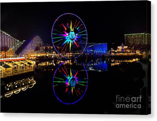 Disney California Adventure Mickey's Fun Wheel Canvas Print
