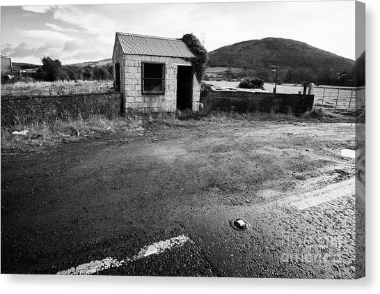 Brexit Canvas Print - Disused Old Irish Customs Post On The Irish Border Between Northern Ireland And Republic Of Ireland  by Joe Fox