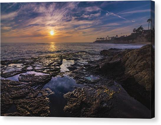 Diver's Cove Sunset Canvas Print