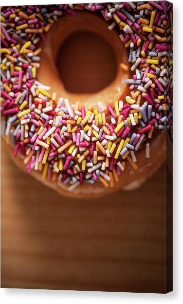 Fast Food Canvas Print - Donut And Sprinkles by Samuel Whitton