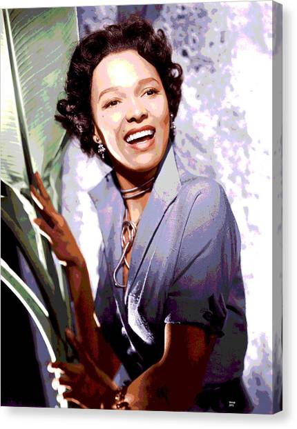 Apollo Theater Canvas Print - Dorothy Dandridge by Charles Shoup