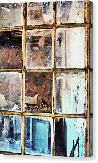 Blue Window Panes  Canvas Print by JAMART Photography