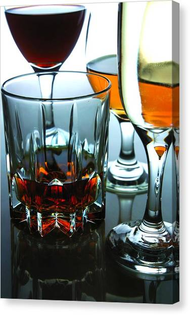 Red Wine Canvas Print - Drinks by Jun Pinzon