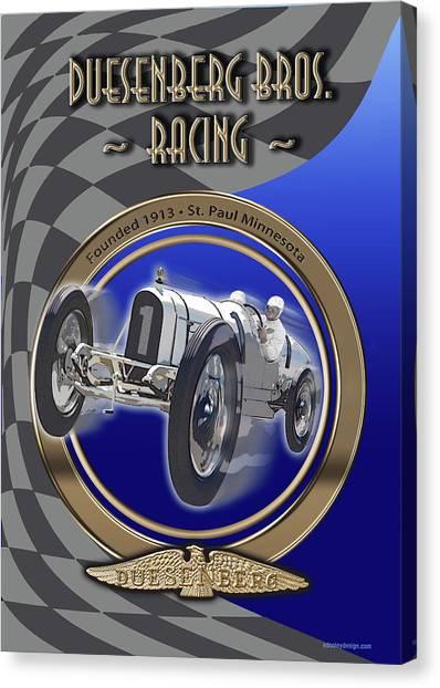 Duesenberg Bros. Racing Canvas Print