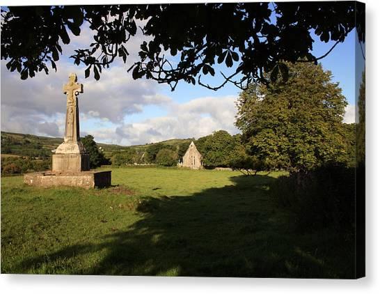 Dea Canvas Print - Dysert O Dea Celtic Cross by John Quinn